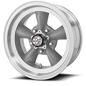 15 Inch 15x8 American Racing wheels wheels TORQ THRUST D Gray w/ Mach Lip wheels rims
