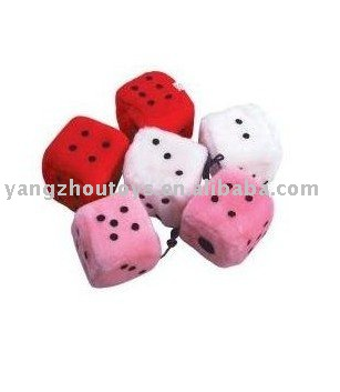 hot sale square dice plush toy stuff square dice toy in multicolor