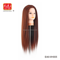 Professional 100% heat resistant fiber Training Mannequin Head for hair cutting/braiding