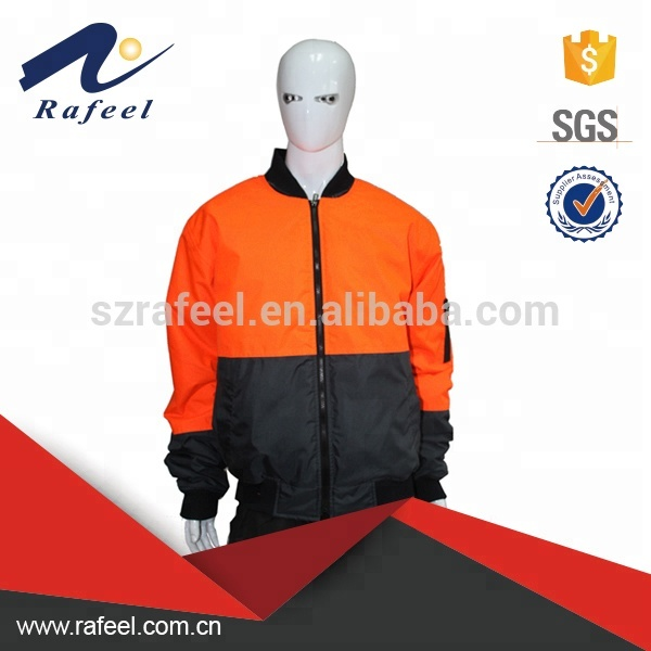 Fluorescent <strong>orange</strong> & black flying bomber jackets workwear