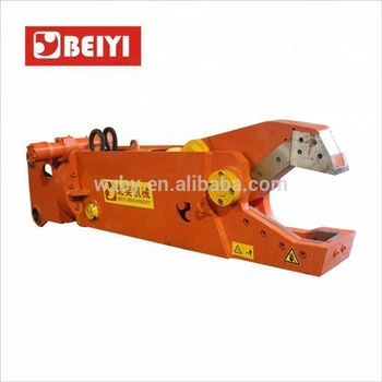 Mobile scrap metal shear hydraulic excavator shear for sale