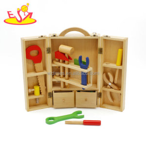 Wholesale fashionable diy assemble wooden tools set toy for boys W03D008