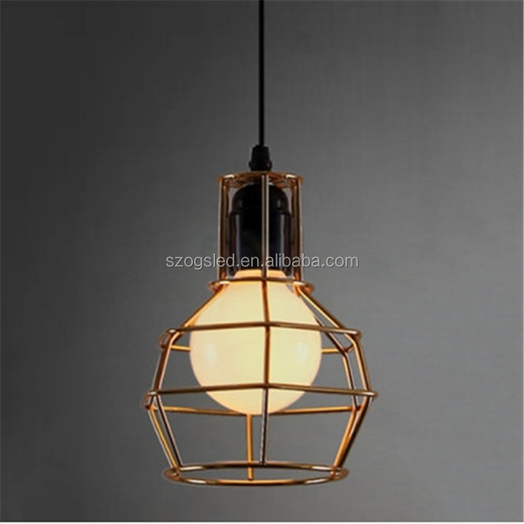 Rustic antique cast iron cage pendant lamps for indoor