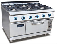Gas Range 6 burner with oven cooking equipment