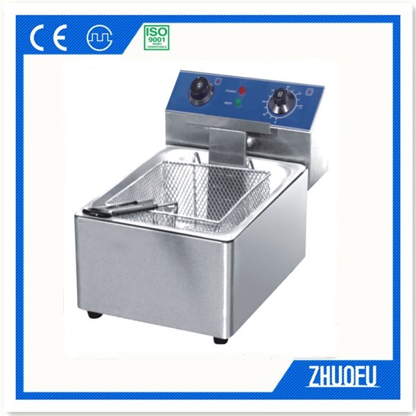 Single Tank Stainless Steel Electric Deep Fryer Machine