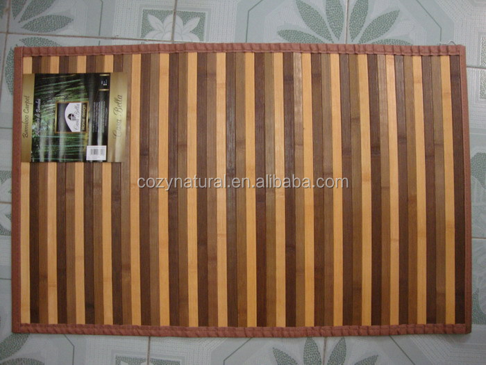 100% natural Bamboo rug mat floor mat