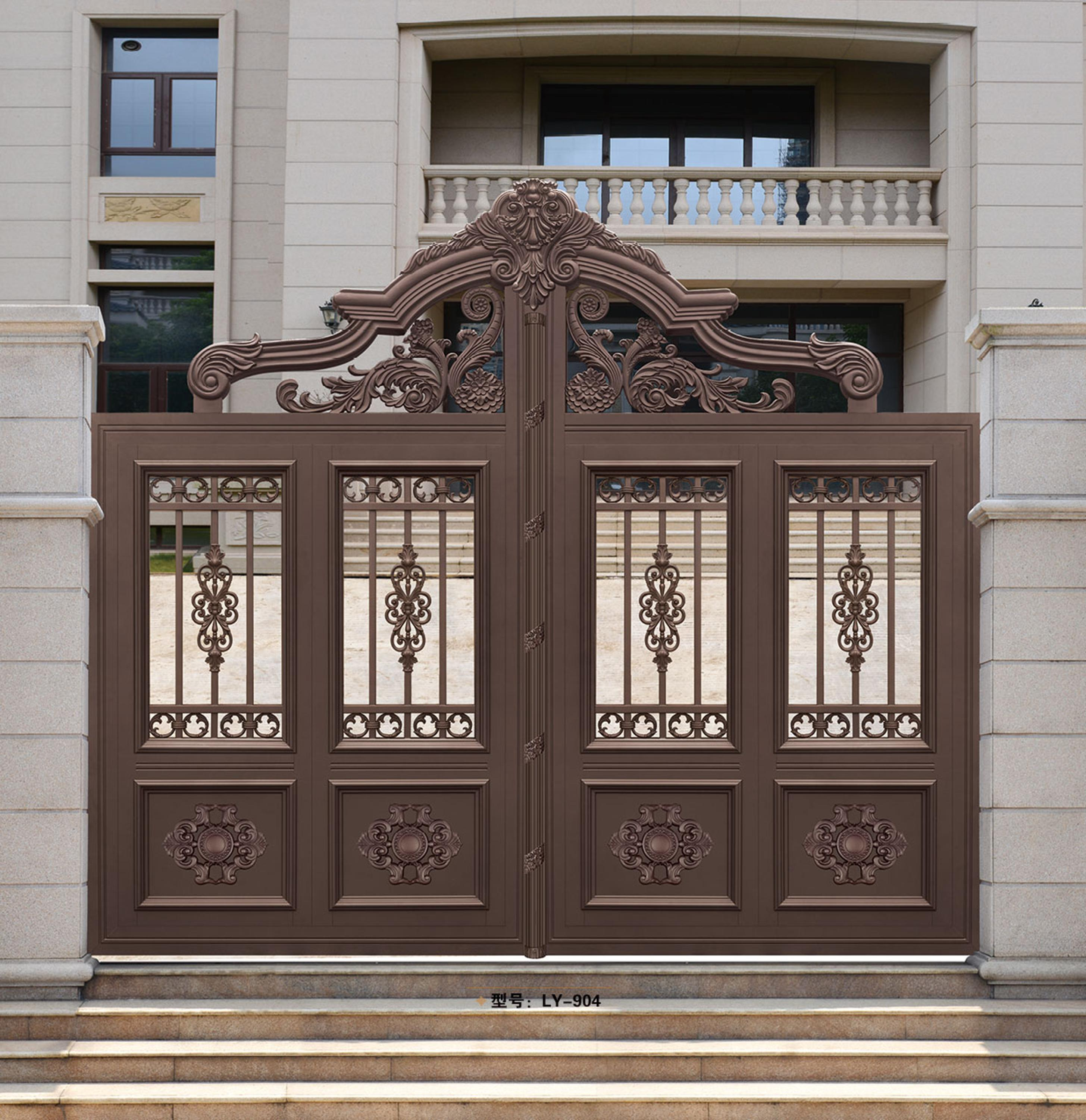 house main gate picture. High quality ornamental powder coated house main entrance gate designs  indian garden LY 904