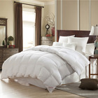 Soft Fluffy 95% White Goose 750 FP Down Comforter Duvet 100% Natural Cotton Fabric Quilt Bed Comforter Set