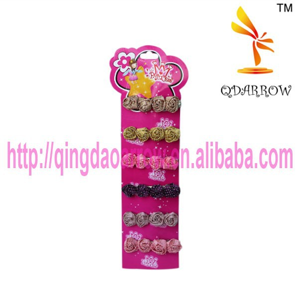 colorful hairclips with rose shaped flower