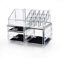 original manfacture hot selling plastic cosmetic organizer makeup with 3 drawers