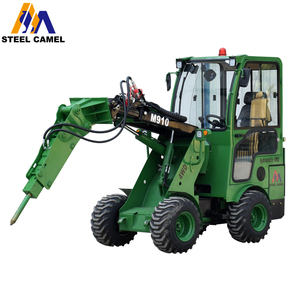 construction machinery machine free maintenance battery wheel loader mini rock hammer for road breaking