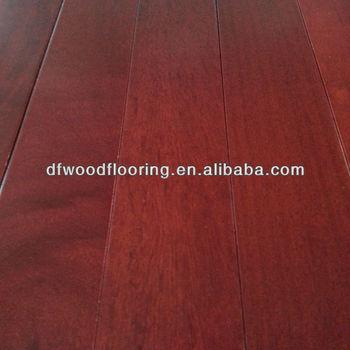 Custom Made Brazilian Kempas Solid Wood Flooring Dark Red Product On
