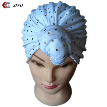 knot bandana gold plaque fashion Turban knotted Head Wrap headband Cap for  woman 24ea6e9f61d