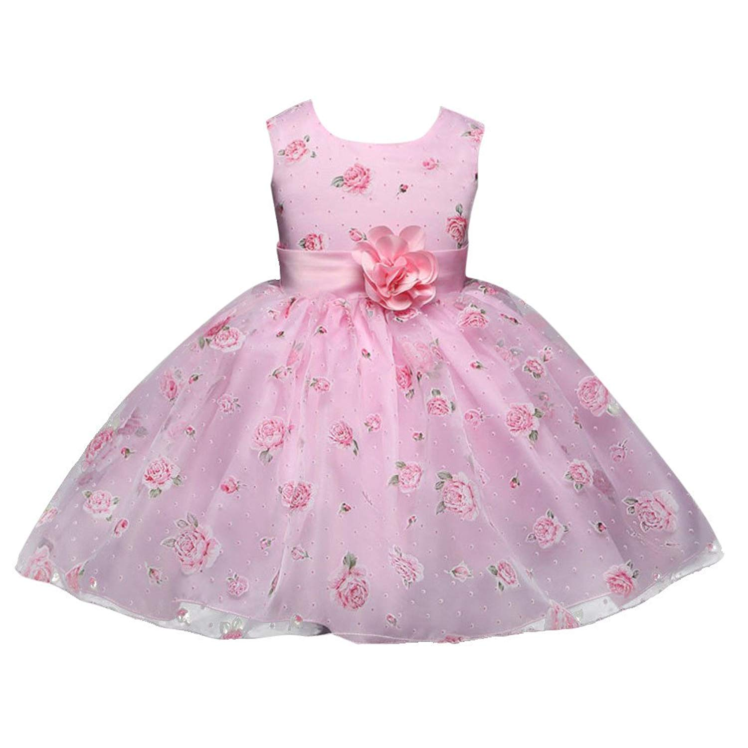 0ae229844 Get Quotations · Baby Baptism Dress Yamally Infant Girls Dress Christening  Party Formal Dress Summer Tutu Dress with Belt