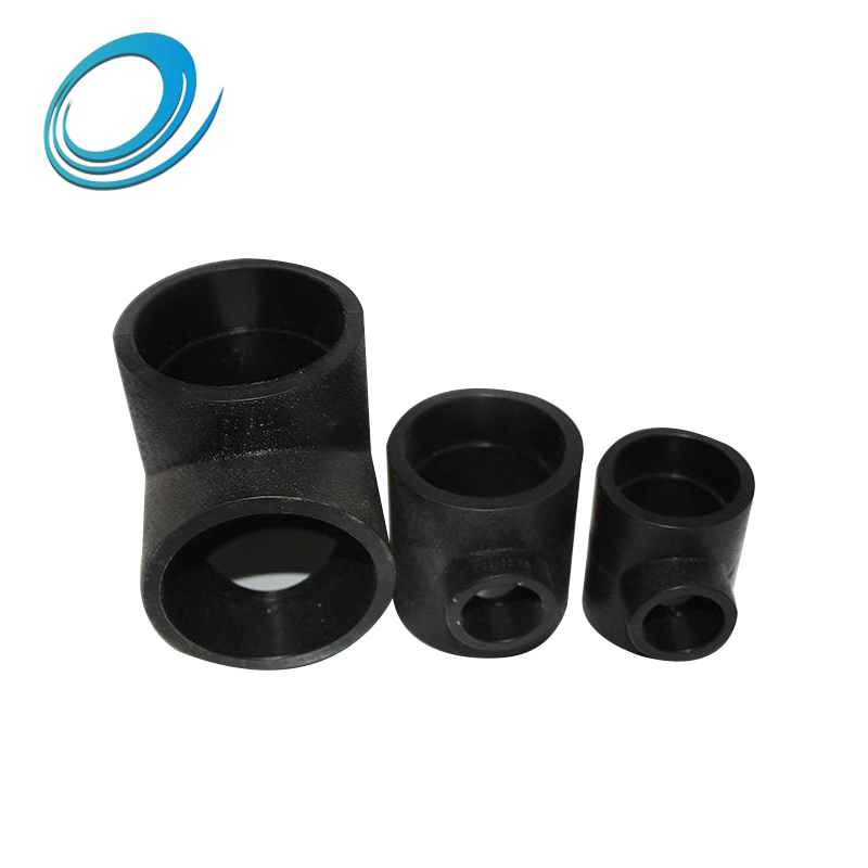 Hdpe butt weld black reducing tee pipe fittings with Good resistance