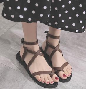 8a22f982ada15 China new pu ladies flat sandals wholesale 🇨🇳 - Alibaba