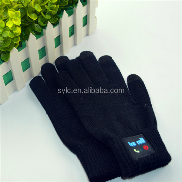 LC Cozy Bluetooth glove Talking & Touch Screen Knit Headset -Factory supply
