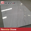 Polished white marble with black veins