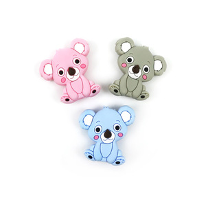 baby koala silicone beads baby teething animal teether