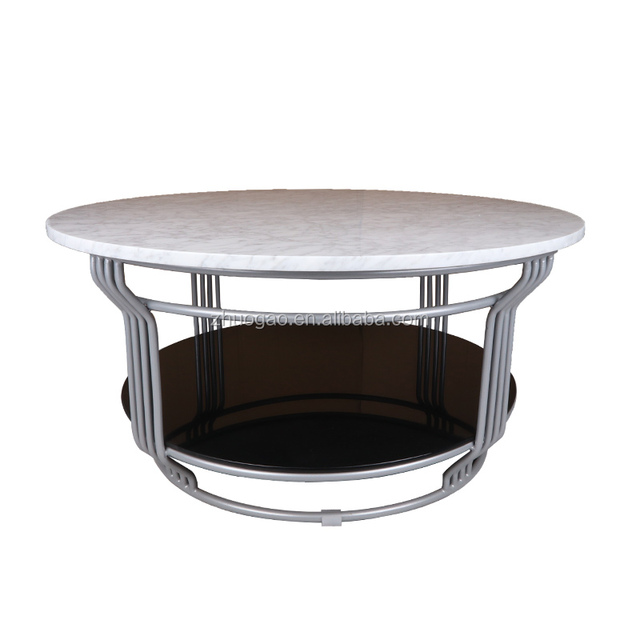 Marble Tea Table For Living Room/Round Shape Tea Table Marble Top Material/ Marble