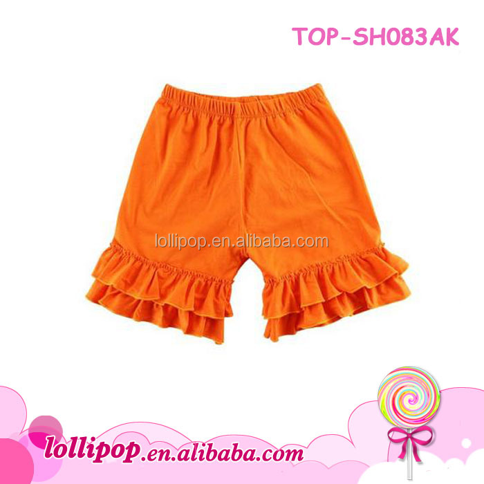 Newest stylish baby girls shiny yoga shorts toddler boys metallic shorts wholesale children solid fancy kids bow dance short