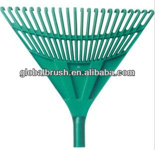 #8 factory supplies,recycled PP leaf rake head,with long handle for garden cleaning