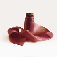 Pure silk ribbon raw silk ribbon uk wedding silk ribbon