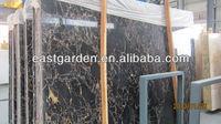 Most popular of Chinese black portoro/gold black slab