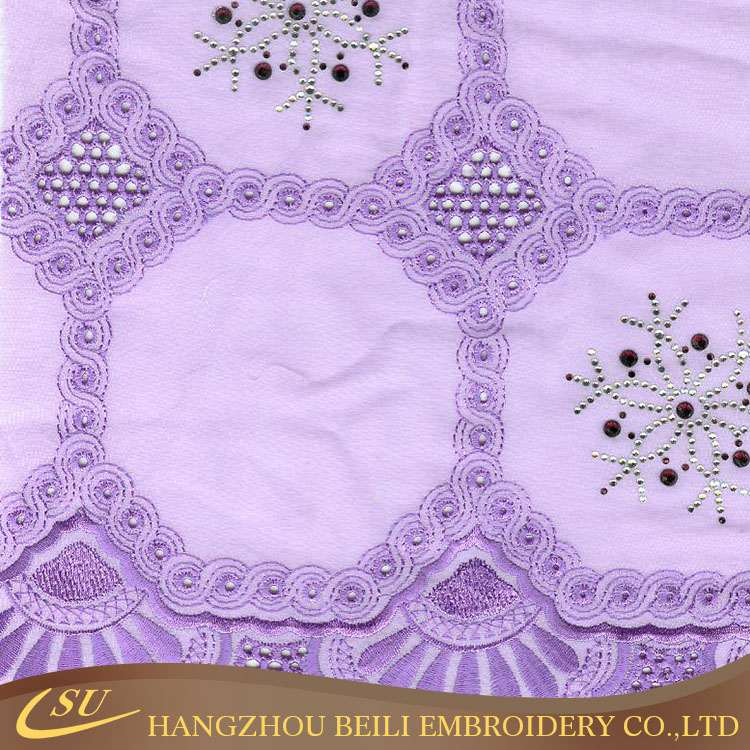 New style lace indian cotton voile fabric