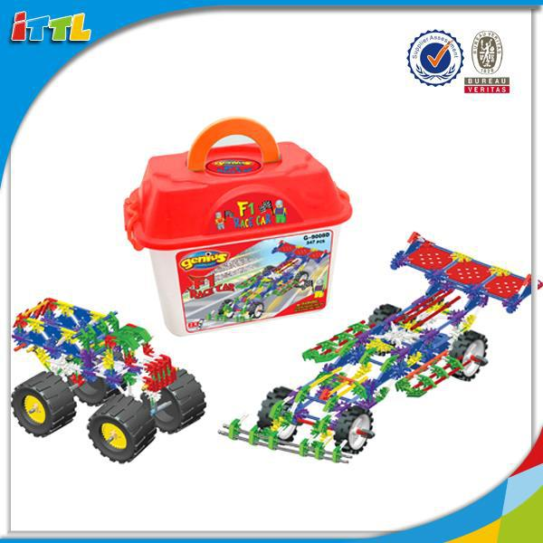 Intelligent kids game educational toy abs plastic block