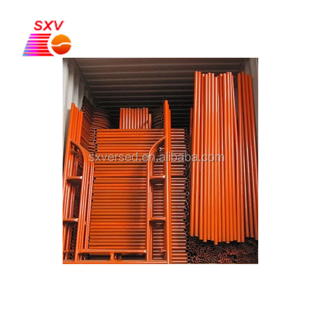 Customized color metal a frame scaffolding for construction