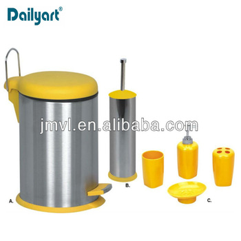 full set high quality yellow bathroom accessories set