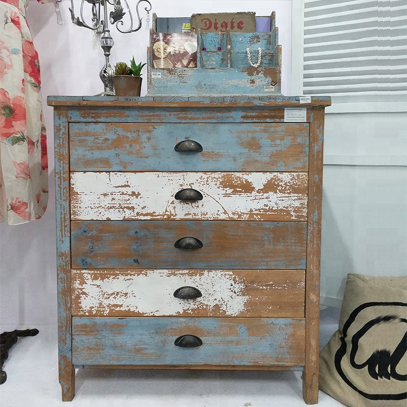 Wholes Vintage Used Recycled Wooden Chest Of Drawers Shabby Chic Living Room Furniture