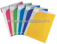 Design hard cover Embossing a4 transparent Plastic expanding document folder