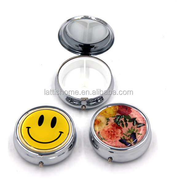 New cosmetic pocket mirror makeup blank compact mirror with compact powder case