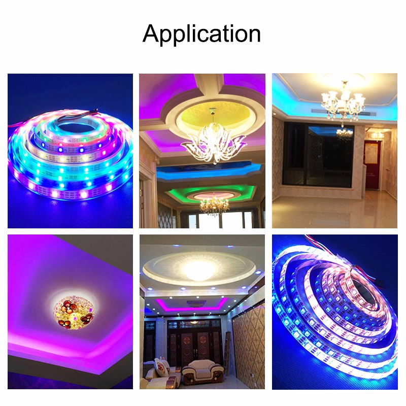 Intelligent wifi smart phone controllable rgb/ rgbw led strip for led home light