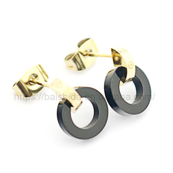 classic round shaped earrings dubai jewellery no stone