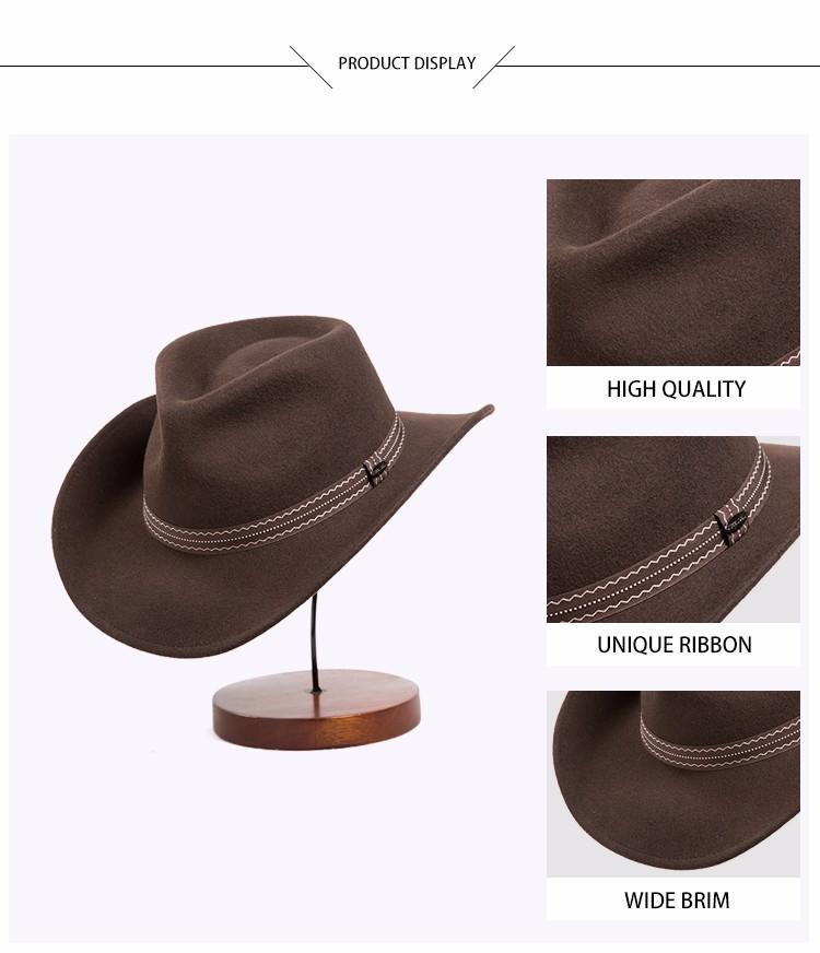 c81aae9662f4e Wholesale Custom Wool Felt Hat For Lemmy Men Cowboy Hat - Buy Cowboy ...