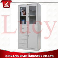 Factory Wholesale Two Glass Door Heavy Duty Instrument/Equipment Cabinet for Warehouse