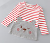 100% cotton strip terry t shirt for kids