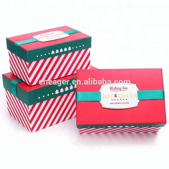 low price large christmas gift boxes high quality decorative christmas boxes