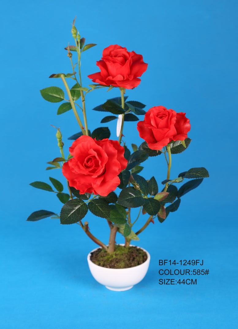 New design red latex real touch rose artificial flower for wedding decoration, fake fabric flowers