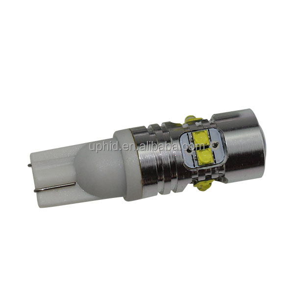 T10 50W high power bulb white/yellow/red car bulb single light