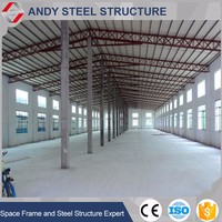 China steel structure frame used shoes warehouse