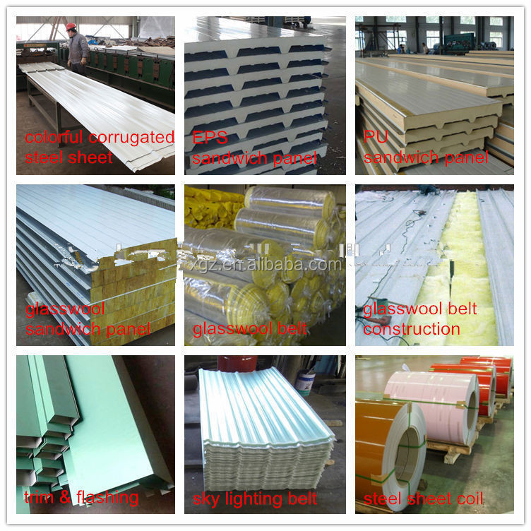 Metal frame structure cold storage warehouse construction