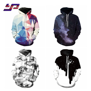 Custom Men 3D Print Pullover Hoodies All Over Printing Polyester Hooded Sweatshirts
