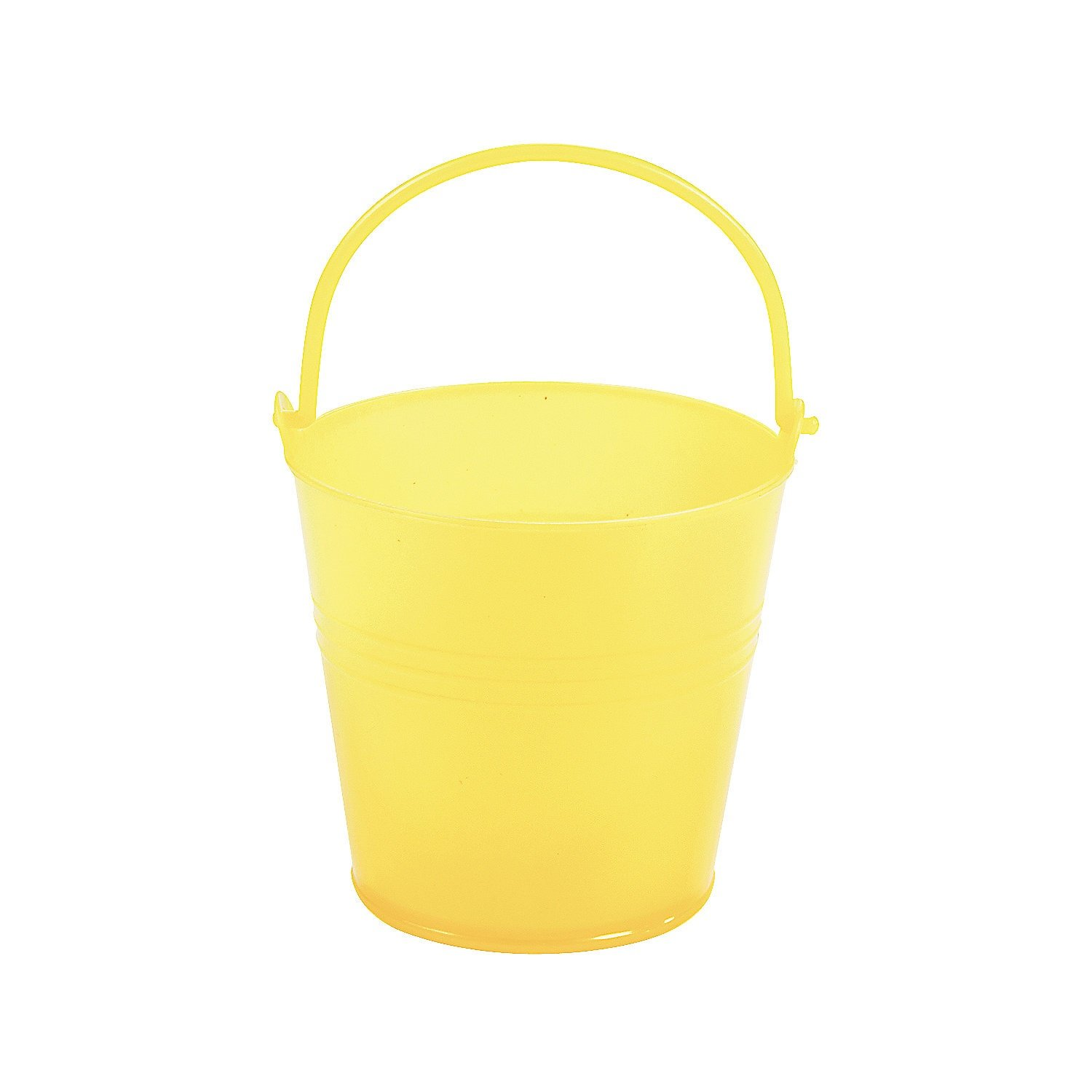 Fun Express Bright Yellow Plastic Pails (1 Dozen)