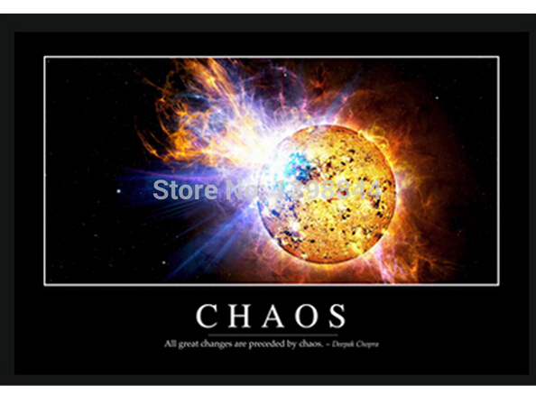 Chaos <font><b>Inspirational</b></font> Painting Luxary <font><b>Home</b></font> <font><b>Decoration</b></font> Fashion Custom FREE SHIPPING Poster Print Size(40x60)cm Wall Sticker