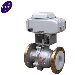 stainless steel 3way ball valve flange stainless steel ballvalve dn50 motorized control ball valve