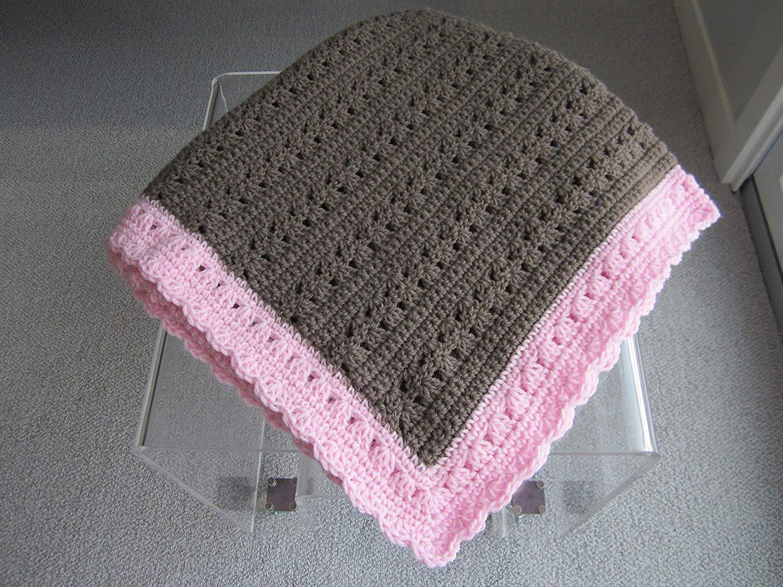 35d416ba1b7 Get Quotations · Hand crochet Baby Girl Blanket by Kim s Crochet Designs!